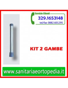 Kit 2 gambe con puntali in gomma