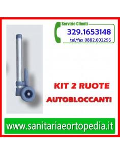 Kit 2 ruote con sistema autobloccante
