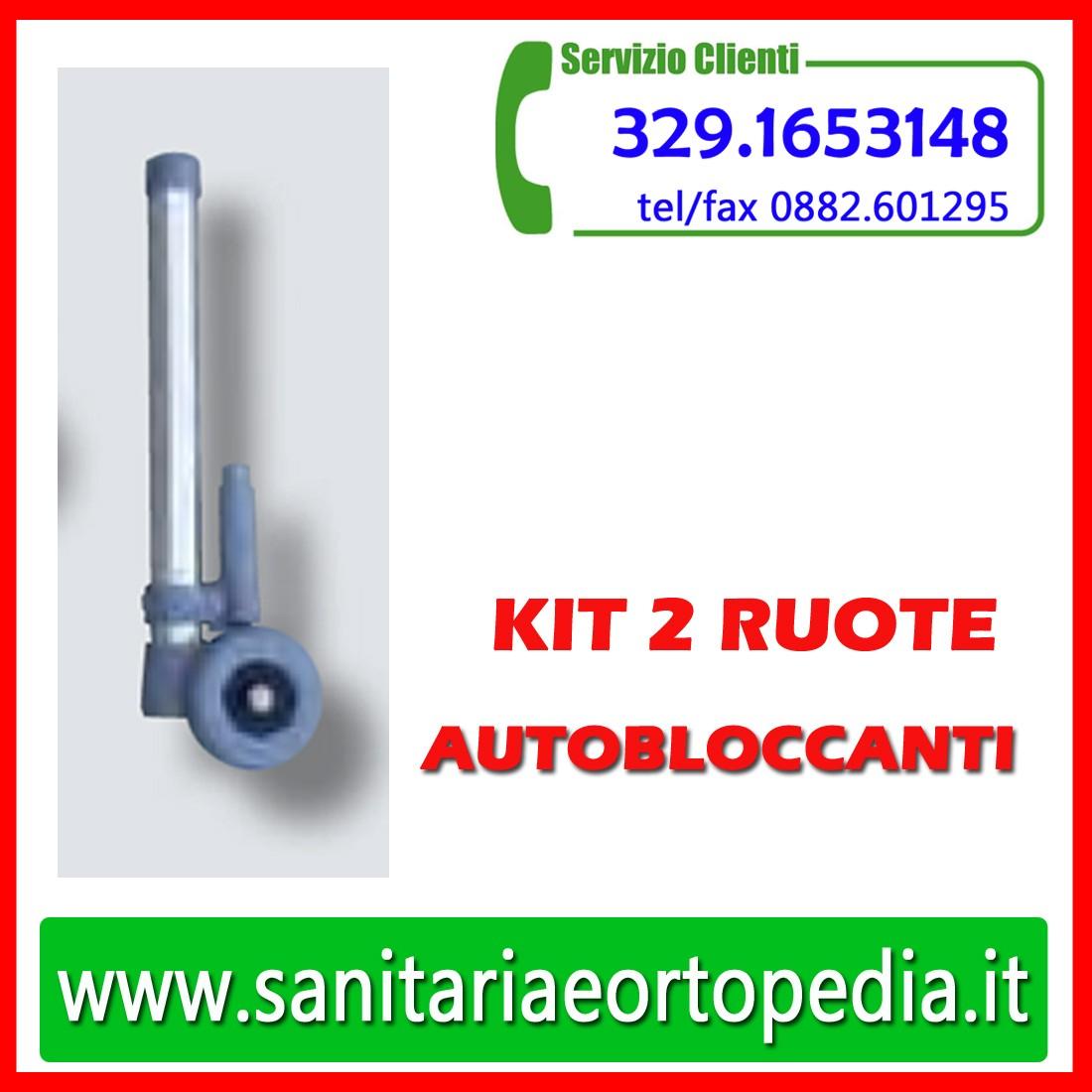d42be5ed3af5 Kit 2 ruote con sistema autobloccante - Sanitaria e Ortopedia