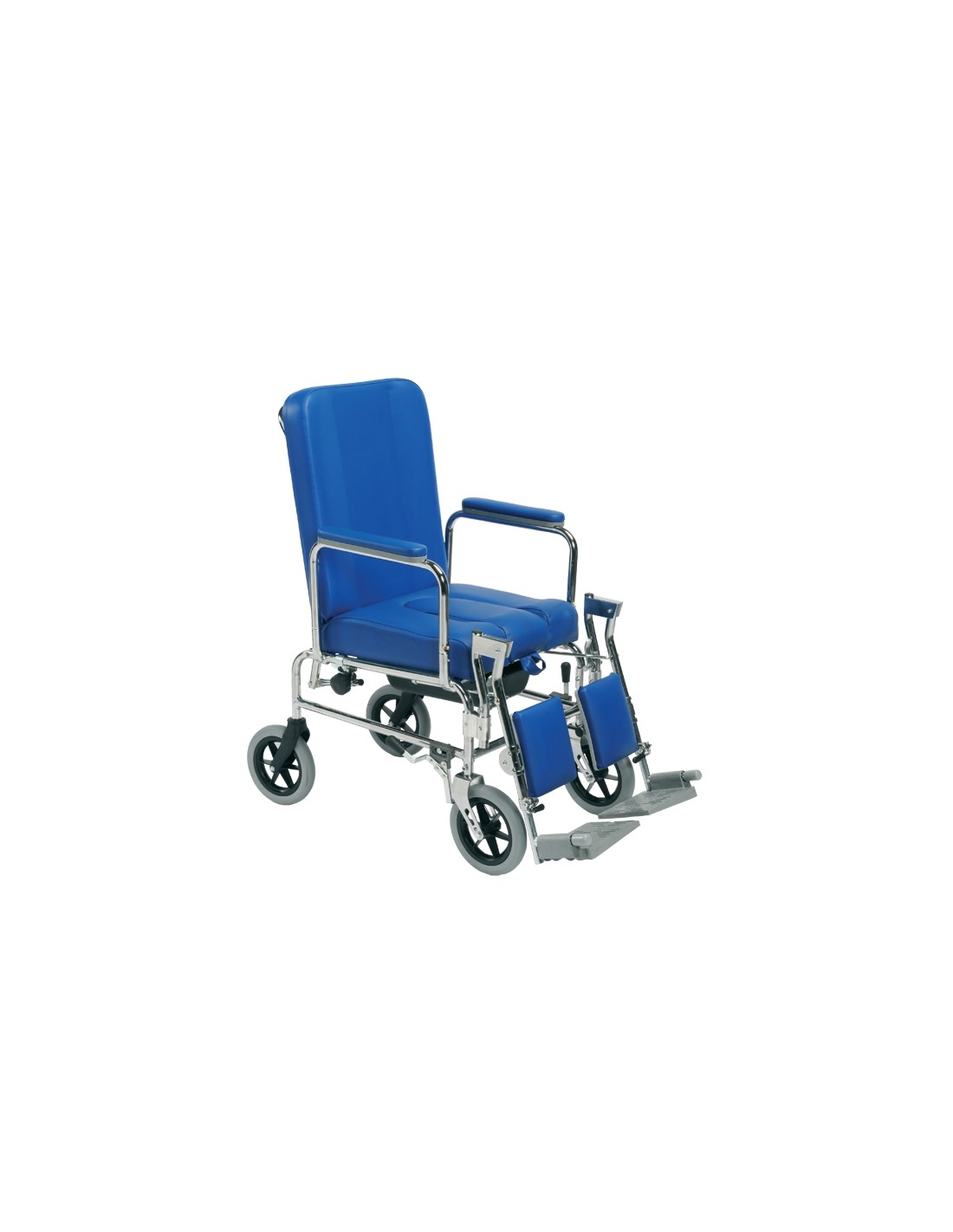 sedie a rotelle imbottite con e senza wc - sanitaria e ortopedia