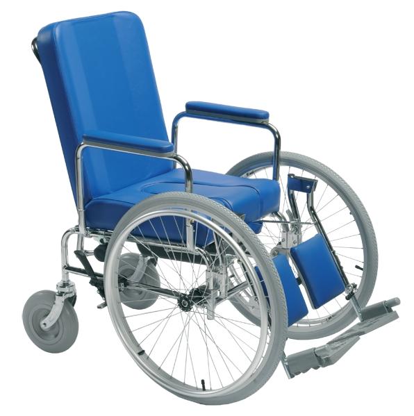 sedia comoda con ruote posteriori e wc vc400 - sanitaria e ortopedia