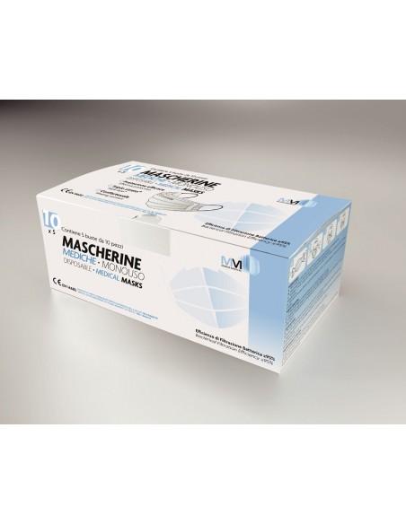 MASCHERINE CHIRURGICHE CERTIFICATE CONFEZIONE 50 MM MUNUS MEDICAL