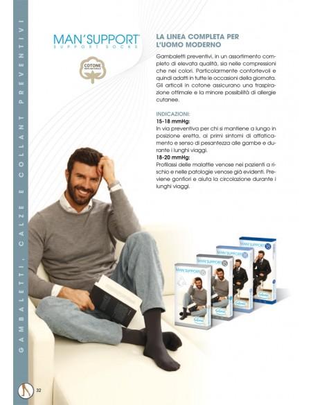 Gambaletti preventivi uomo a compressione graduata
